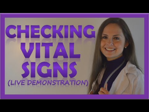 How to Check Vital Signs