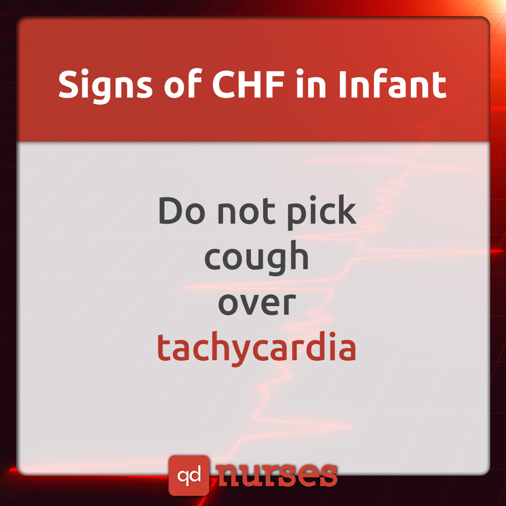 Signs of CHF in Infant