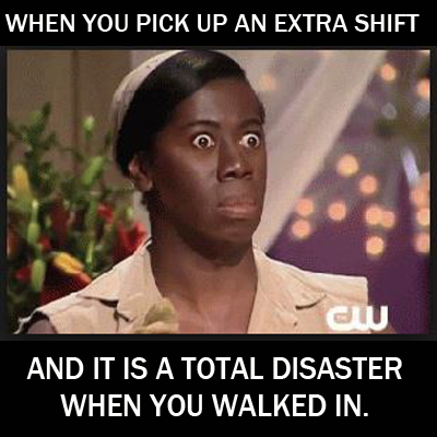Picking up an extra shift